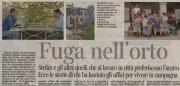 """Solmeo su Corriere della Sera """"Fuga nell'orto"""""""