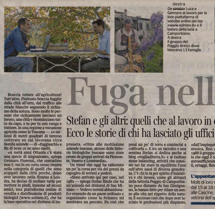 Corriere Della Sera Fuga nell orto 1