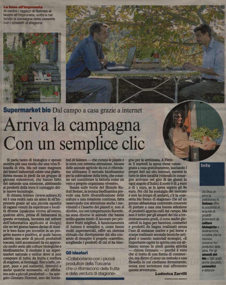 Corriere Della Sera arriva la campagna con un clic