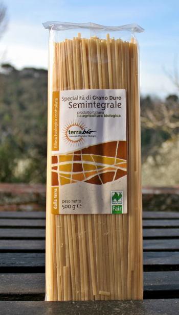 Linguine semintegrali trafila al bronzo biologiche TerraBio